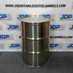 open top stainless steel drum